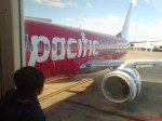 Sebelum bertolak ke Aucklan menaiki pesawat Virgin Blue.